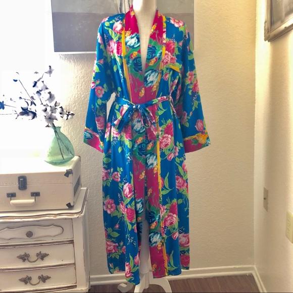 Colorful Colorful Robe Floral Floral Vintage Robe Robe Colorful Vintage Floral Vintage IEDeH29YW